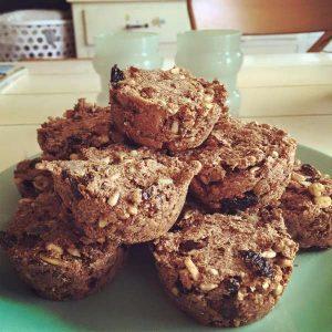 goji-cranberry muffins