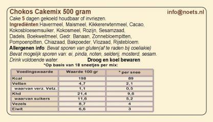 Chokos Cakemix 500 gram