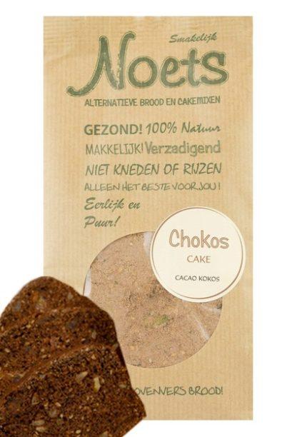 Chokos cake van Noets. een heerlijke alternatieve cakemix met cacao en kokos!