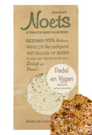 Dadel en vijgen brood met noten en vruchten. Lekker en gezond van Noets.