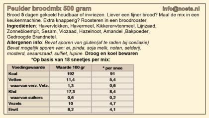 Noets peulder broodmix 500 gram