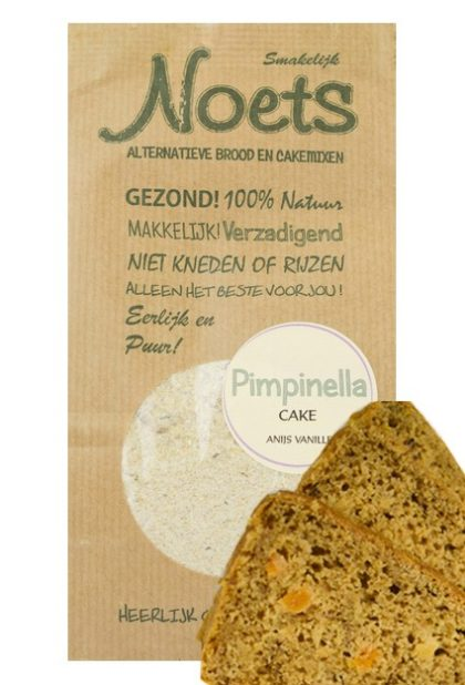 Pimpinella cake van noets met anijs en vanille.
