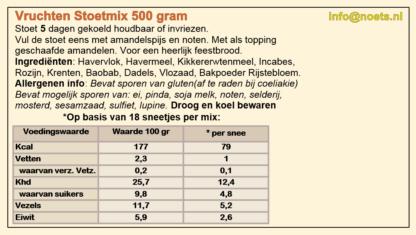 Noets vruchten stoetmix 500 gram