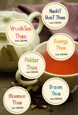 Theepakket van Noets met diverse smaken natuurlijke thee.