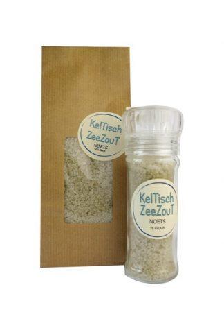 Keltisch zeezout voor zoutmolen navulverpakking.