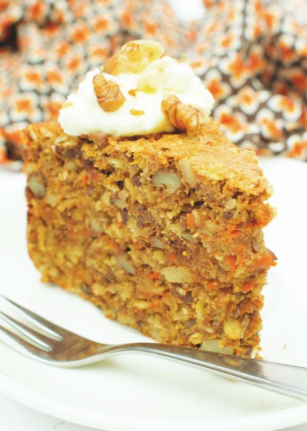 Carrotcake of worteltaart van de Noets Dadel/Vijgen mix.